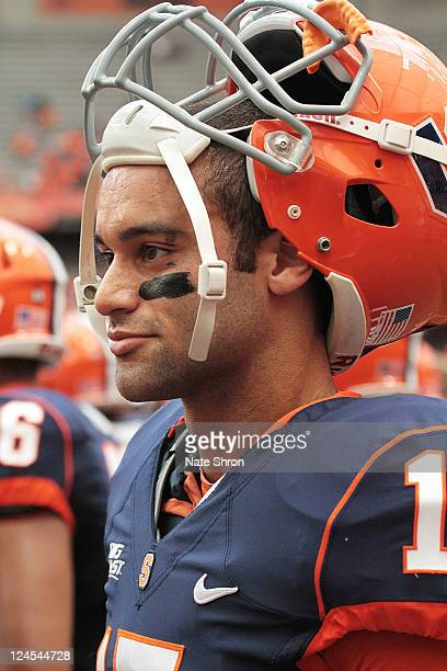 Alec Lemon of the Syracuse Orange looks on during the game against the Rhode Island Rams on September 10 2011 at the Carrier Dome in Syracuse New York