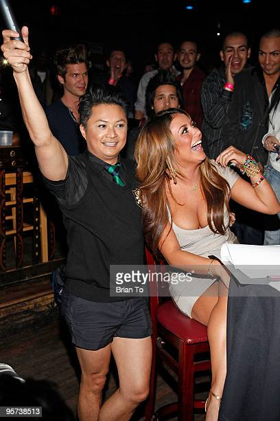 Alec Mapa and Aubrey O'Day attend Heel Hate Benefit For Matthew Shepard Foundation And NOH8 Campaign at House of Blues Sunset Strip on January 12...