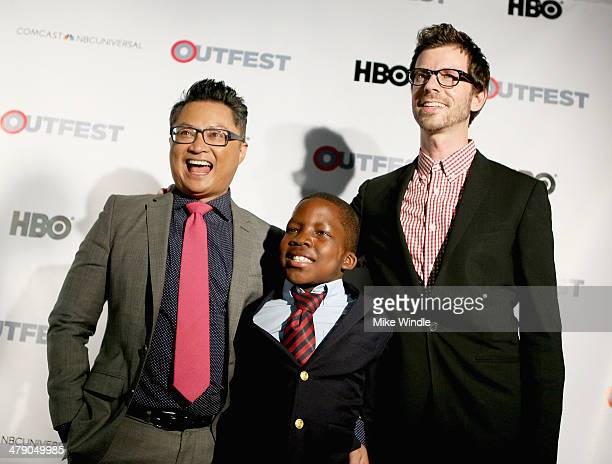 Alec Mapa and family, Zion Hebert-Mapa and Jamison Hebert attend the Outfest Fusion LGBT People Of Color Film Festival - Outfest Fusion Achievement...