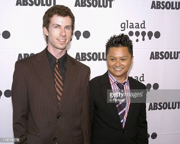 Alec Mapa and guest during 16th Annual GLAAD Media Awards at Fort Mason Center in San Francisco California United States