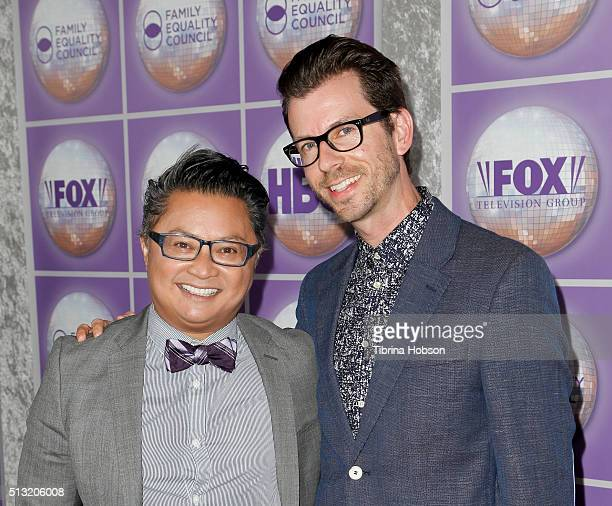 Alec Mapa and Jamison Hebert attend the Family Equality Council's Los Angeles awards dinner at The Beverly Hilton Hotel on February 28, 2015 in...
