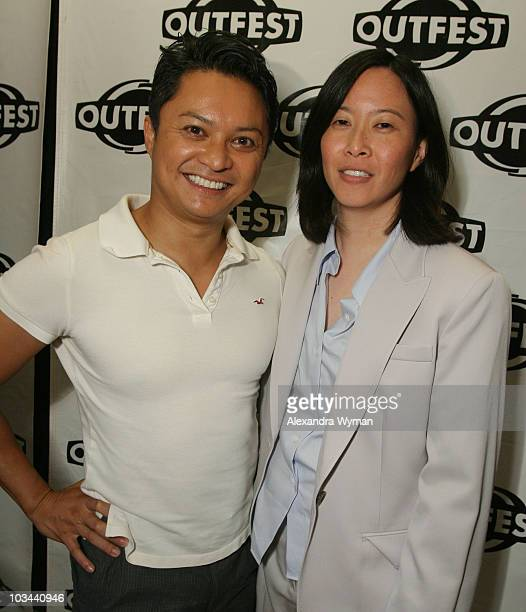 Alec Mapa and Kim Yutani arrive at the 2008 Outfest Closing Night Gala at The Orpheaum Theatre on July 21 2008 in Los Angeles California