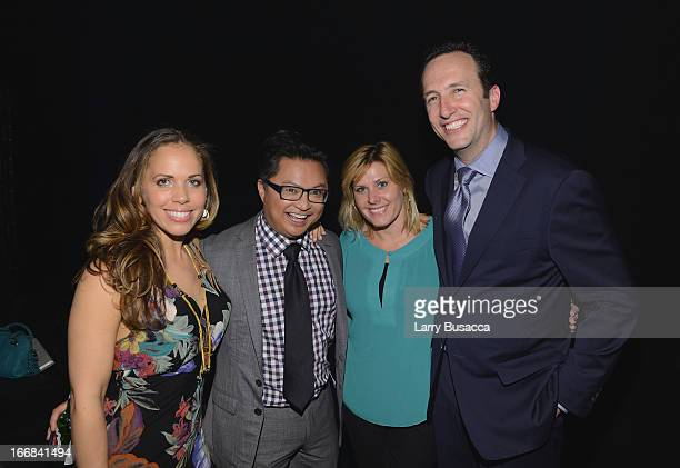 Alec Mapa and President and General Manager of AMC Charlie Collier pose with guests at the AMC Upfront 2013 at the 69th Regiment Armory on April 17...
