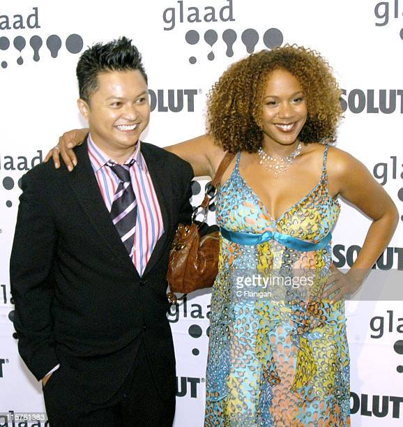 Alec Mapa and Rachel True during 16th Annual GLAAD Media Awards at Fort Mason Center in San Francisco California United States