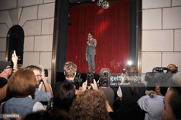 Alec Mapa appears at a live window revue during Fashion's Night Out celebration at Bergdorf Goodman on September 8 2011 in New York City