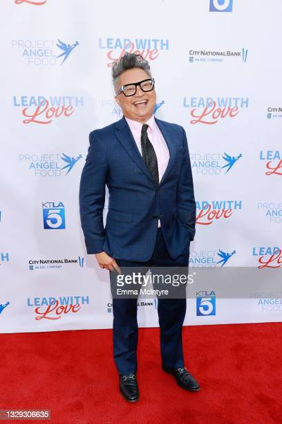 """Alec Mapa attends Project Angel Food """"Lead With Love 2021"""" at KTLA 5 on July 17, 2021 in Los Angeles, California."""