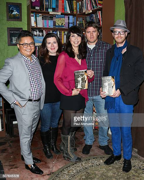 Alec Mapa Heather Matarazzo Illeana Douglas Matt Oswalt and Kliph Nesteroff attend the reading and QA of I Blame Dennis Hopper at Samuel French Film...