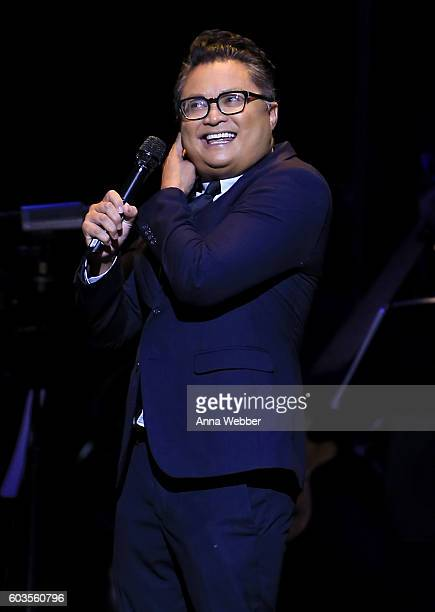 Alec Mapa performs onstage at the 2nd Annual Voices For The Voiceless Stars For Foster Kids Benefit at the Al Hirschfeld Theatre on September 12 2016...