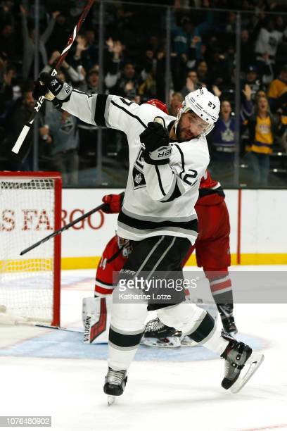 Alec Martinez of the Los Angeles Kings celebrates his goal during the third period at Staples Center on December 02 2018 in Los Angeles California