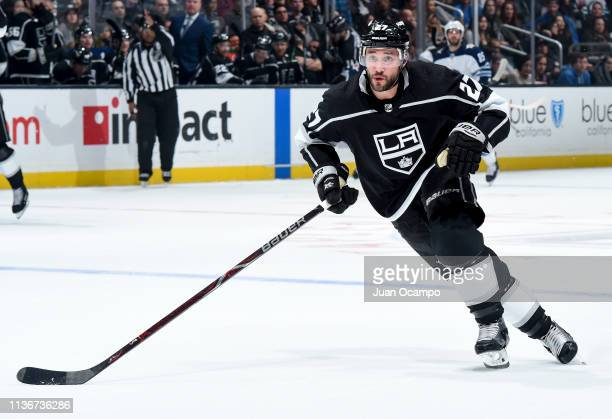 Alec Martinez of the Los Angeles Kings skates against the Winnipeg Jets during the second period of the game at STAPLES Center on March 18 2019 in...