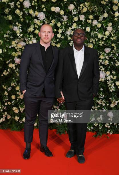 Alec Maxwell and Edward Enninful attend the 10th Annual Filmmakers Dinner hosted by Charles Finch Edward Enninful and Michael Kors at the Hotel du...