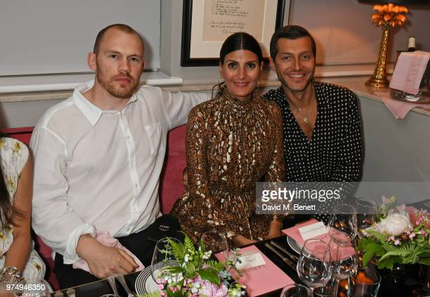 Alec Maxwell Giovanna Battaglia Engelbert and Evangelo Bousis attend a private dinner hosted by Edward Enninful in honour of Giambattista Valli to...