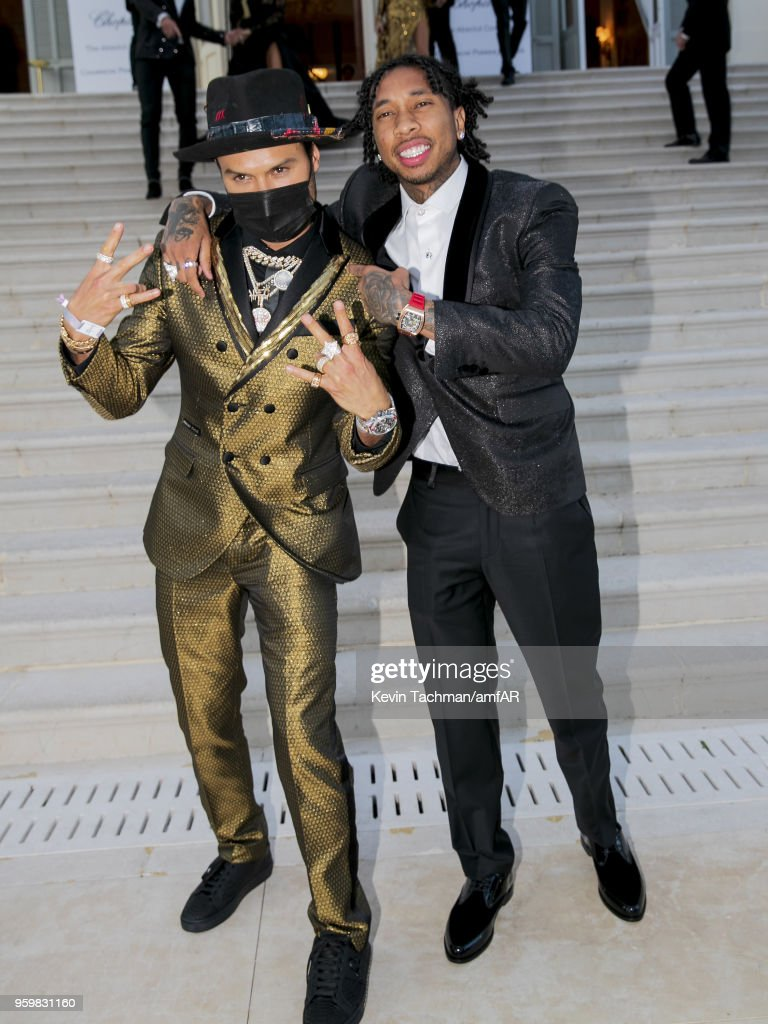Alec Monoply and Tyga attend the amfAR Gala Cannes 2018 at Hotel du Cap-Eden-Roc on May 17, 2018 in Cap d'Antibes, France.