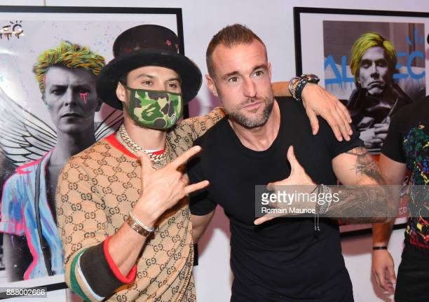 Alec Monopoly and Philipp Plein attend Haute Living's VIP PopUp Opening Of Alec Monopoly From Art Life And David Yarrow From Maddox Gallery at Fleur...