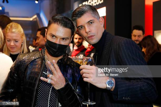 Alec Monopoly and Rayer VanRistell attend TAG Heuer and art provocateur Alec Monopoly launch event celebrating special edition watches on January 31...