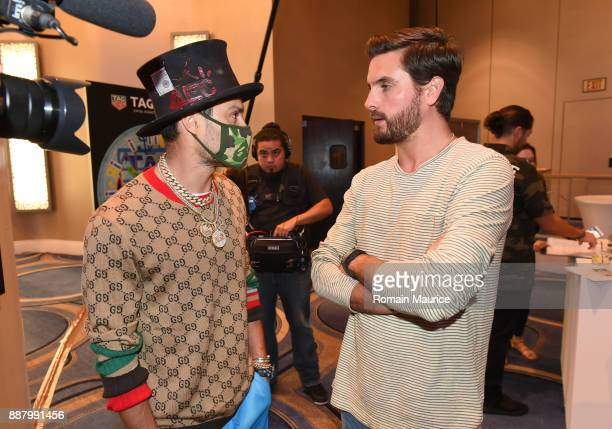Alec Monopoly and Scott Disick attend Haute Living's VIP PopUp Opening of Alec Monopoly from Art Life and David Yarrow from Maddox Gallery at Fleur...