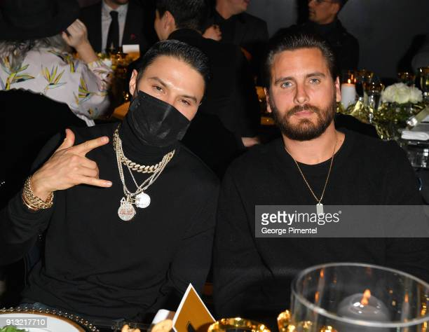 Alec Monopoly and Scott Disick celebrate The 5 year Anniversary of The Concierge Club at The Globe and Mail Centre on February 1 2018 in Toronto...