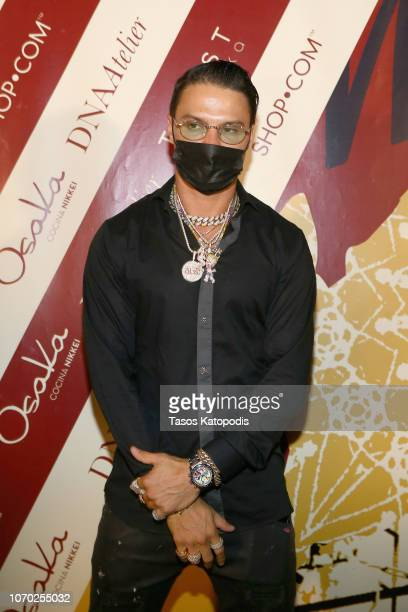 Alec Monopoly attends an ART MAISON celebration of Shepard Fairey with SHOPCOM DNA Atelier Toast Vodka Osaka Restaurant on December 8 2018 in Miami...