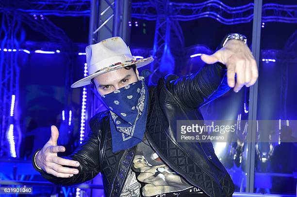 Alec Monopoly attends the Plein Sport party during Milan Men's Fashion Week Fall/Winter 2017/18 on January 14 2017 in Milan Italy