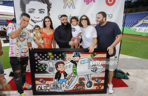 Alec Monopoly Kaia Sof Grutman Isabela Rangel Grutman DJ Khaled Asahd Khaled Nicole Tuck and David Grutman are seen Asahd's 2nd Birthday carnival...