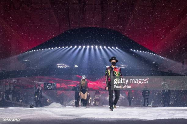 Alec Monopoly walks the runway at the Philipp Plein Fashion Show during New York Fashion Week on February 10 2018 in New York City