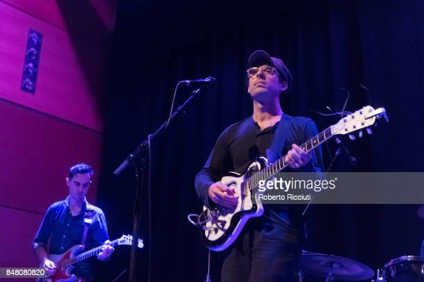Alec Ounsworth of Clap Your Hands Say Yeah! performs on stage at CCA on September 16, 2017 in Glasgow, Scotland.