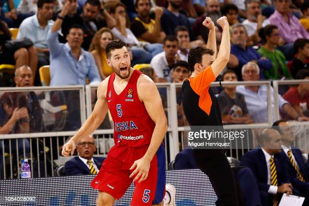 Alec Peters #5 of CSKA Moscow in action during the 2018/2019 Turkish Airlines EuroLeague Regular Season Round 4 game between Herbalife Gran Canaria...