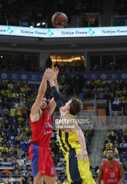 Alec Peters #5 of CSKA Moscow in action during the 2018/2019 Turkish Airlines EuroLeague Regular Season Round 13 game between Fenerbahce BEKO...