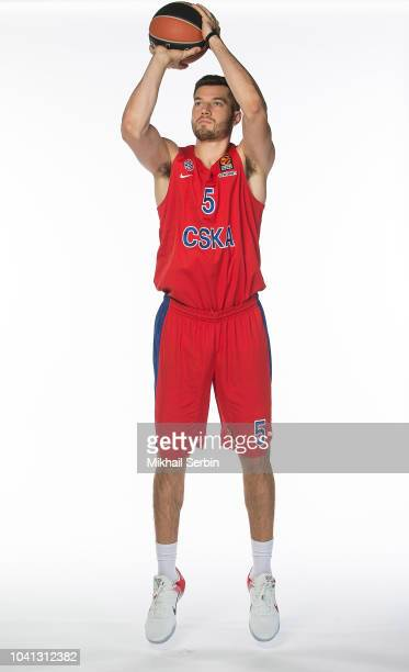 Alec Peters #5 poses during the CSKA Moscow 2018/2019 Turkish Airlines EuroLeague Media Day at Megasport Arena on September 26 2018 in Moscow Russia