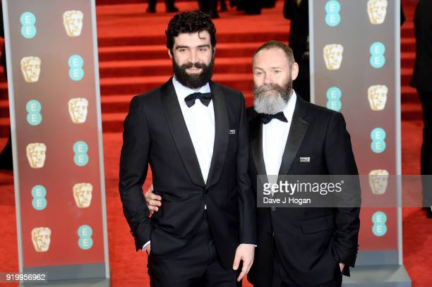 Alec Secareanu and director Francis Lee attend the EE British Academy Film Awards held at Royal Albert Hall on February 18 2018 in London England