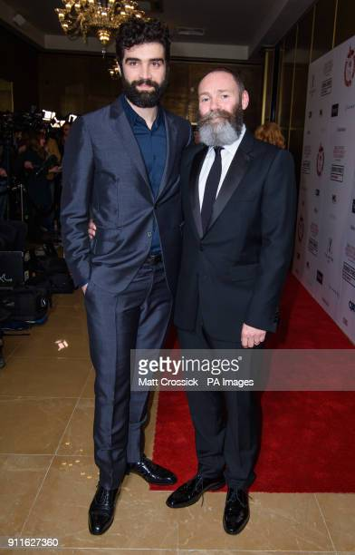 Alec Secareanu and Francis Lee arriving at the London Film Critics Circle Awards 2017 the May Fair Hotel London