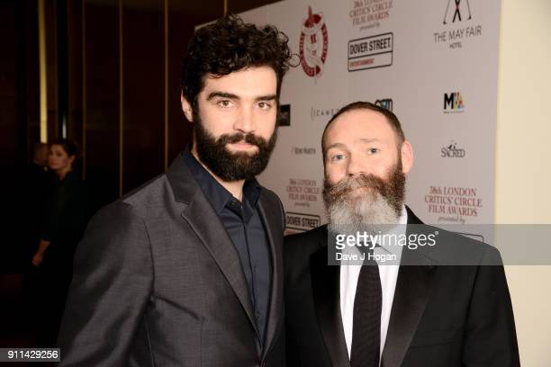 Alec Secareanu and Francis Lee attend London Film Critics' Circle Awards 2018 at The Mayfair Hotel on January 28 2018 in London England