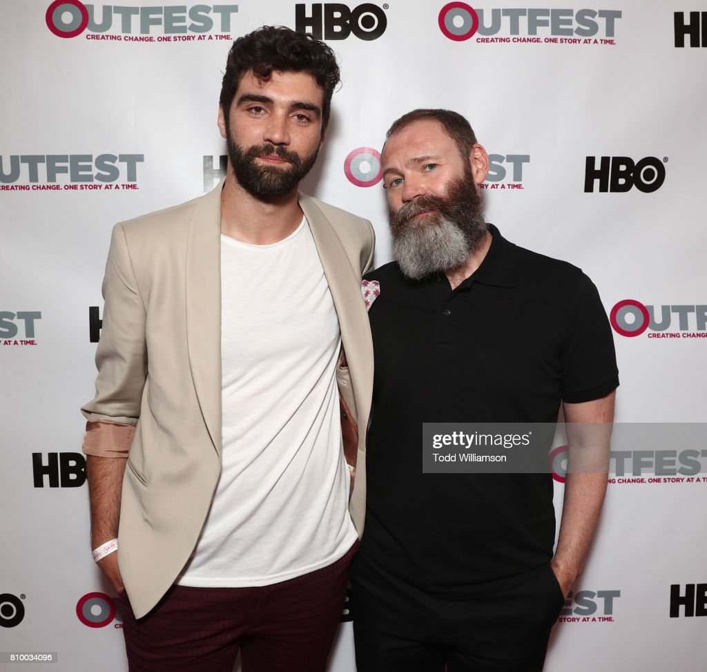Alec Secareanu and Francis Lee attend the 2017 Outfest Los Angeles LGBT Film Festival Opening Night Gala at Orpheum Theatre on July 6, 2017 in Los Angeles, California.