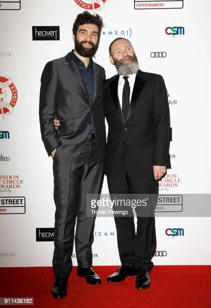 Alec Secareanu and Francis Lee attend the London Film Critics Circle Awards 2018 at The Mayfair Hotel on January 28 2018 in London England