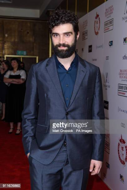 Alec Secareanu arriving at the London Film Critics Circle Awards 2017 the May Fair Hotel London