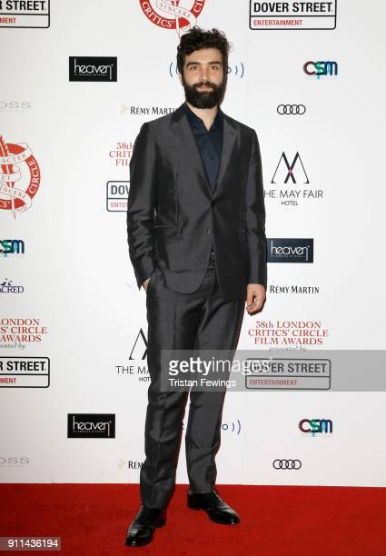 Alec Secareanu attends the London Film Critics Circle Awards 2018 at The Mayfair Hotel on January 28 2018 in London England