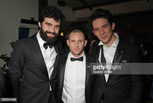 Alec Secareanu Jamie Bell and Josh O'Connor attend the Grey Goose 2018 BAFTA Awards after party on February 18 2018 in London England