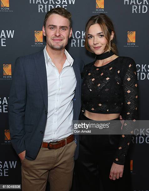 Alec Snow and Demi Harman arrive ahead of the Australian premiere of Hacksaw Ridge at State Theatre on October 16 2016 in Sydney Australia