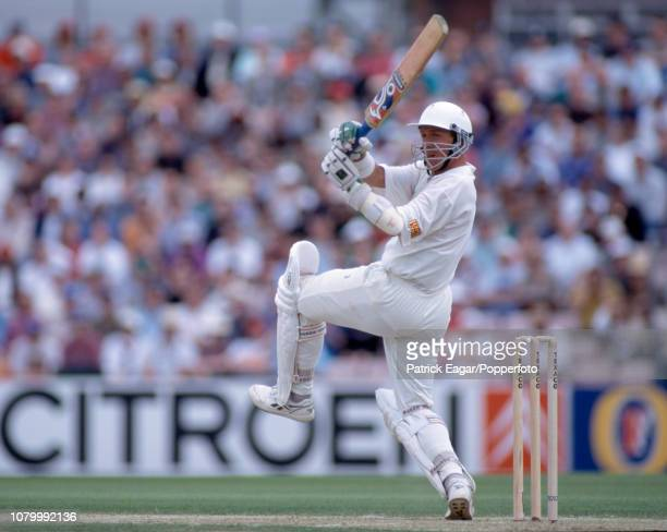 Alec Stewart batting during the 2nd Texaco Trophy One Day International between England and West Indies at The Oval, London, 26th May 1995. England...