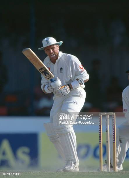 Alec Stewart batting for England during the 1st Test match between Sri Lanka and England at Galle International Stadium Galle Sri Lanka 24th February...