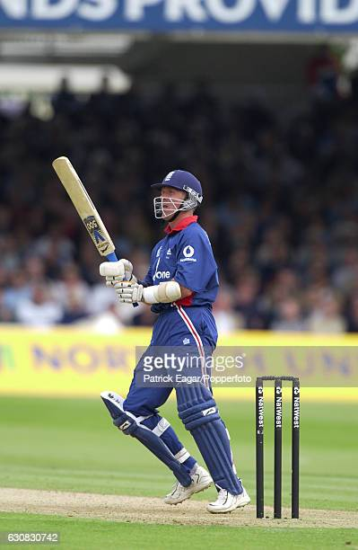 Alec Stewart batting for England during the 2nd NatWest Series One Day International between England and India at Lord's Cricket Ground, London, 29th...