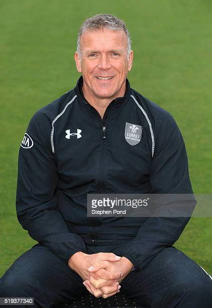 Alec Stewart Director of Cricket for Surrey during the Surrey County Cricket Club media day at The Kia Oval on April 6 2016 in London England