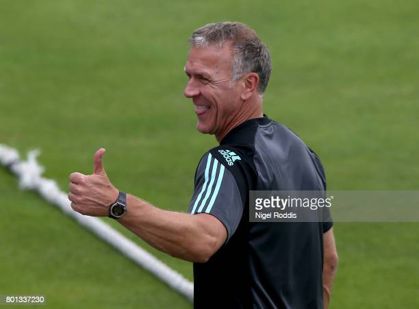 Alec Stewart Director of Cricket of Surrey during the Specsavers County Championship Division One match between Yorkshire and Surrey at Headingley on...