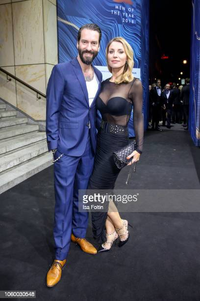 Alec Voelkel and his wife Johanna Michels arrive for the 20th GQ Men of the Year Award at Komische Oper on November 8 2018 in Berlin Germany