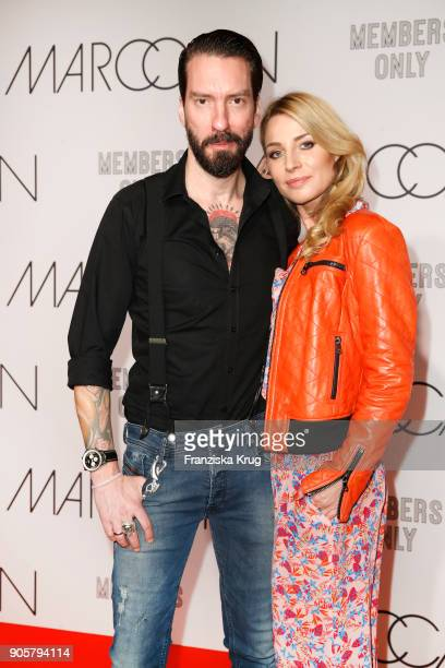 Alec Voelkel and his wife Johanna Voelkel during the Marc Cain Fashion Show Berlin Autumn/Winter 2018 at metro station Potsdamer Platz on January 16...
