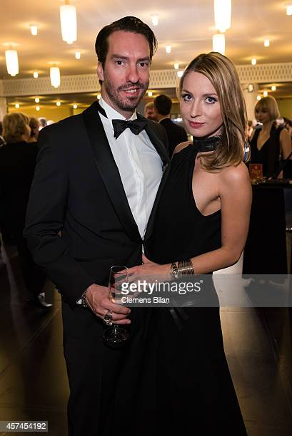Alec Voelkel and Johanna Michels attends the Opera Ball Leipzig at Opernhaus on October 18 2014 in Leipzig Germany