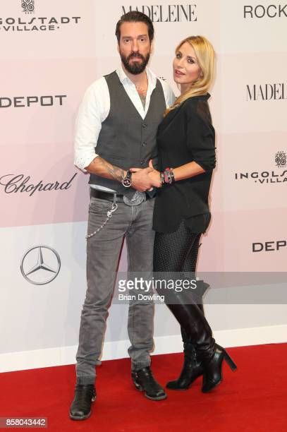 Alec Voelkel and Johanna Voelkel arrive at Tribute To Bambi at Berlin Station on October 5 2017 in Berlin Germany