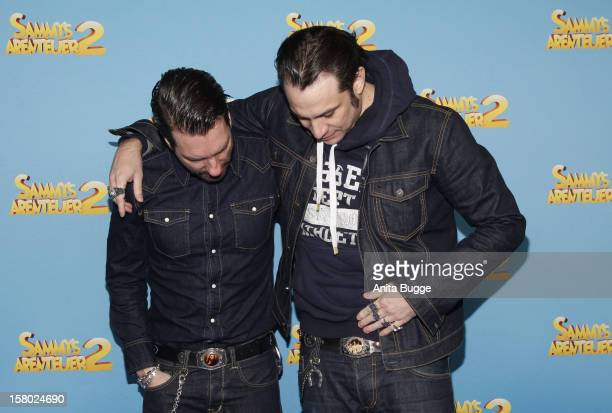 Alec Voelkel and Sascha Vollmer attend the ''Sammys Abenteuer' Charity Premiere at the UCI Eastgate on December 9 2012 in Berlin Germany