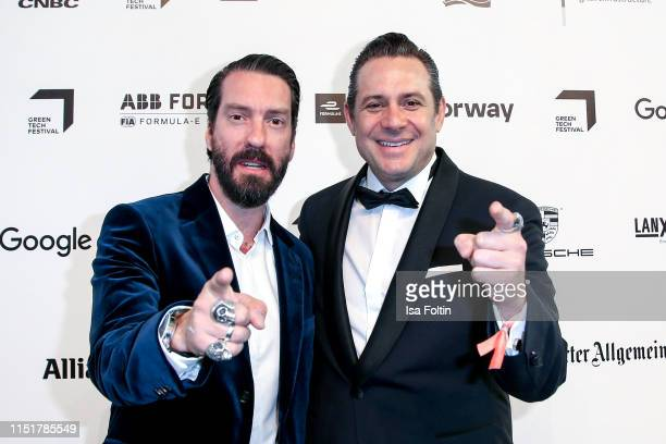 Alec Voelkel and Sascha Vollmer during the Green Award as part of the Greentech Festival at Tempelhof Airport on May 24 2019 in Berlin Germany The...
