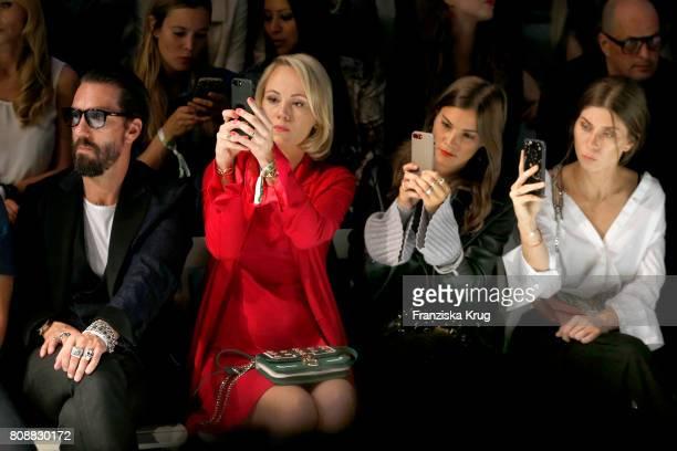 Alec Voelkel Kathrin Gelinsky Nina Schwichtenberg and Vicky Heiler attend the Marc Cain Fashion Show Spring/Summer 2018 at ewerk on July 4 2017 in...